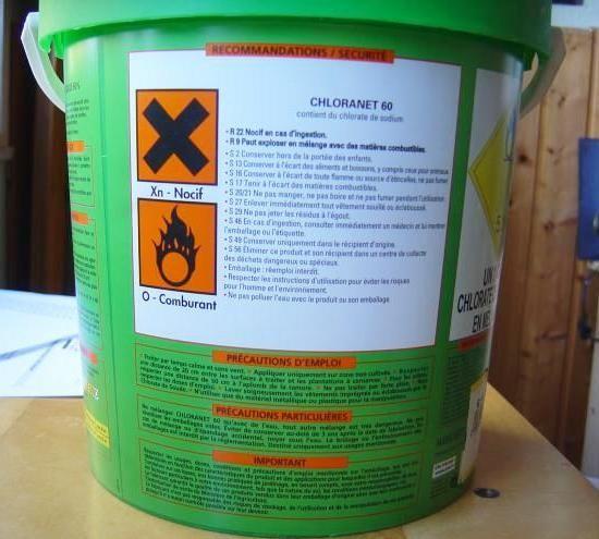 le desherbant chlorate de soude 5