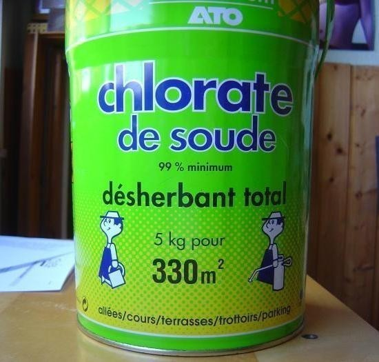 le desherbant chlorate de soude 0