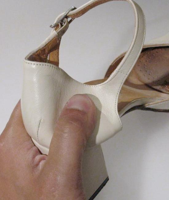 assouplir un contrefort de chaussure en cuir 4