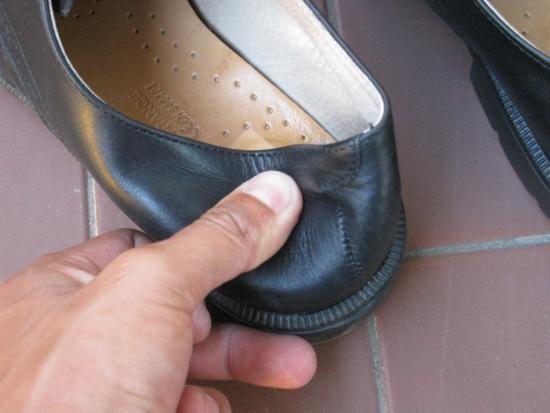 assouplir un contrefort de chaussure en cuir 6