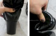 Casser le contrefort d'une chaussure