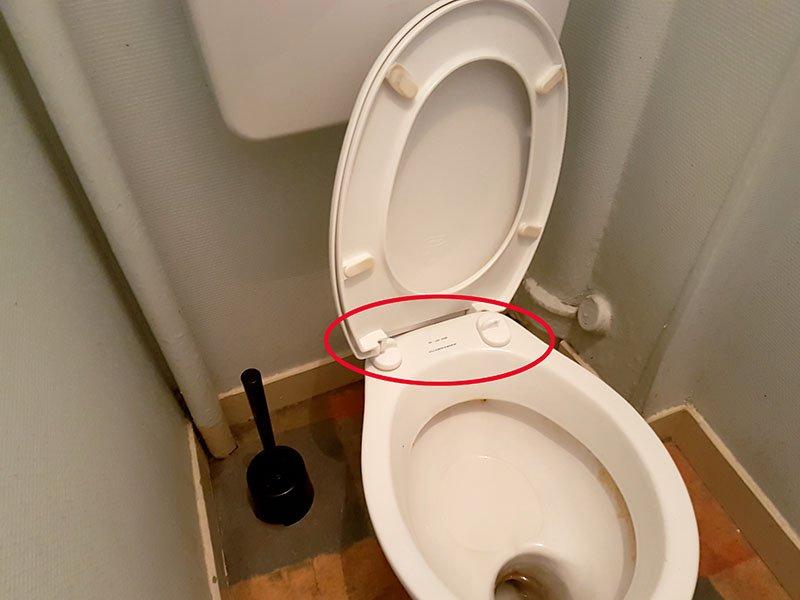 lunette abattant wc cassée