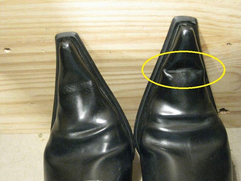 bout dur chaussure casse plie
