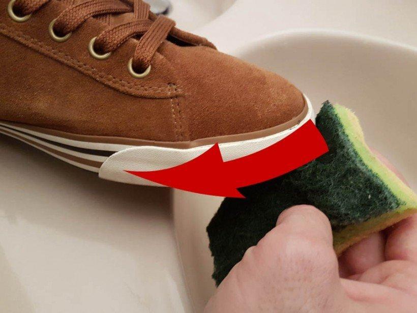 Comment nettoyer le contour de ses semelles de baskets
