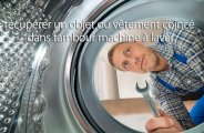 Objet ou vêtement coincé dans tambour machine à laver