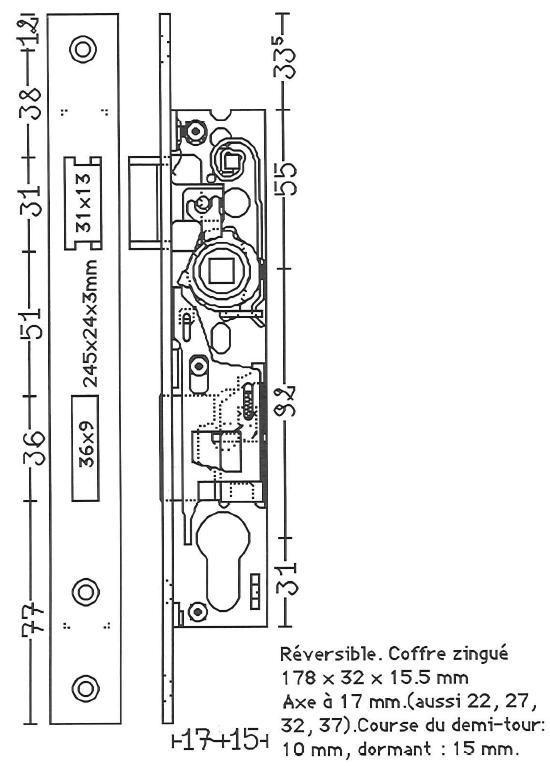 plans de serrure pour portes en aluminium 2