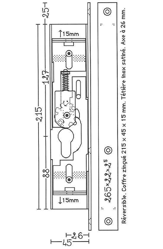plans de serrure pour portes en aluminium 4