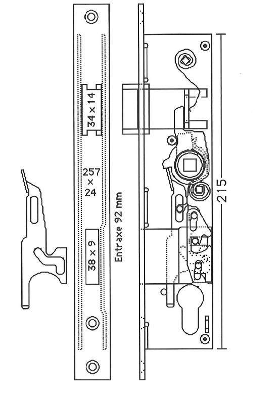 Plans de serrure pour portes en aluminium