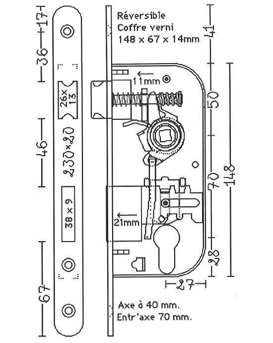 Plans de serrures encastrer astuces pratiques - Comment fonctionne une serrure de porte ...