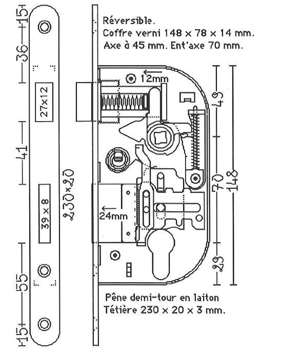 comment rparer une serrure vachette 3 points cylindre de serrure descriptif jeu de cylindre. Black Bedroom Furniture Sets. Home Design Ideas