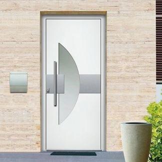 porte d'entrée en aluminium clair
