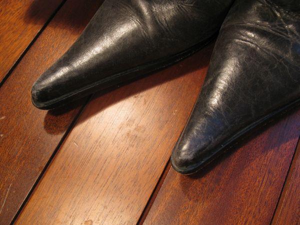 reparer eraflure sur chaussure en cuir 1