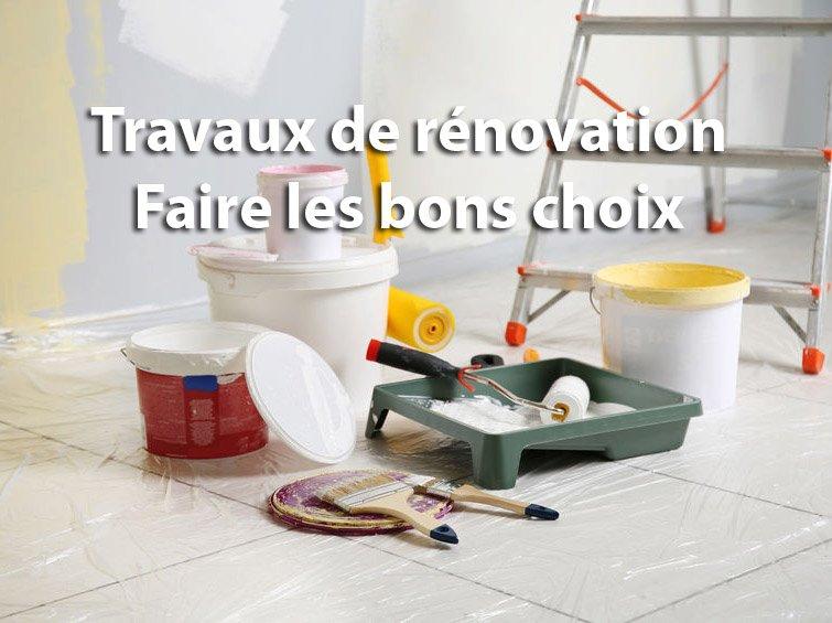 travaux de renovation les bons choix