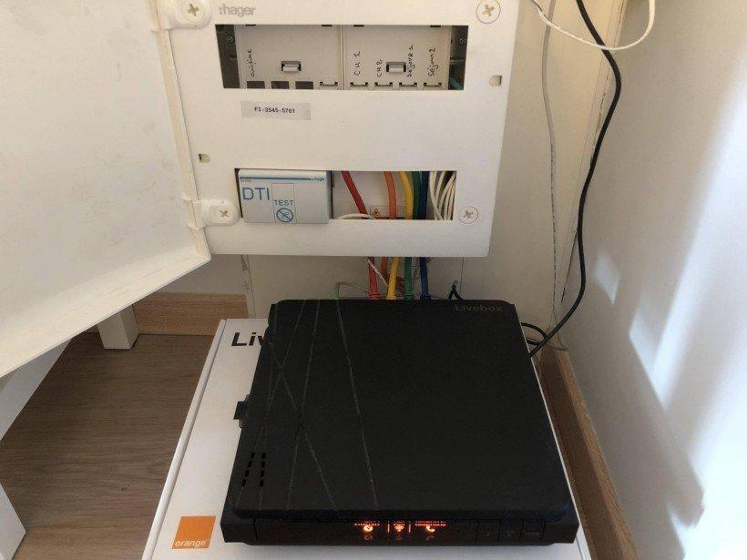 box internet et tableau electrique