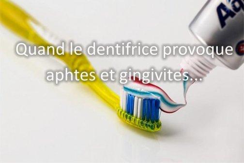 aphtes gingivites dentifrice