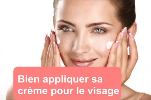appliquer creme visage