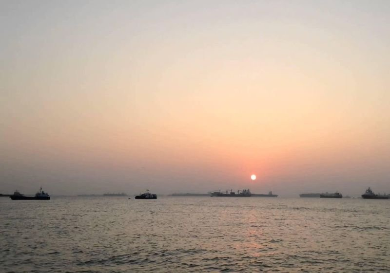 coucher soleil mars soleil bleu