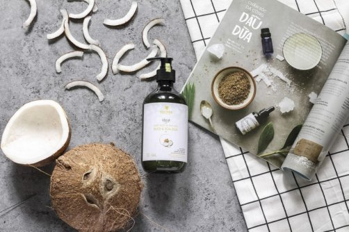 nourrir cheveux huile coco