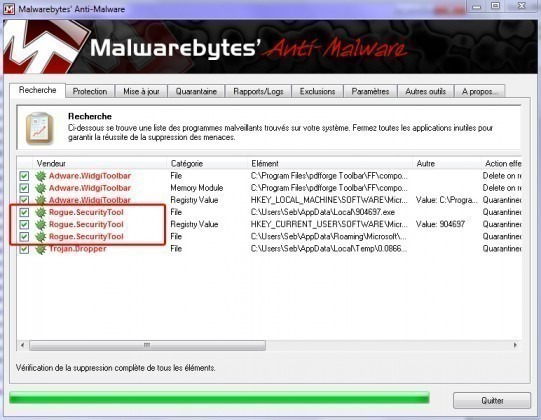 supprimer security tool 3