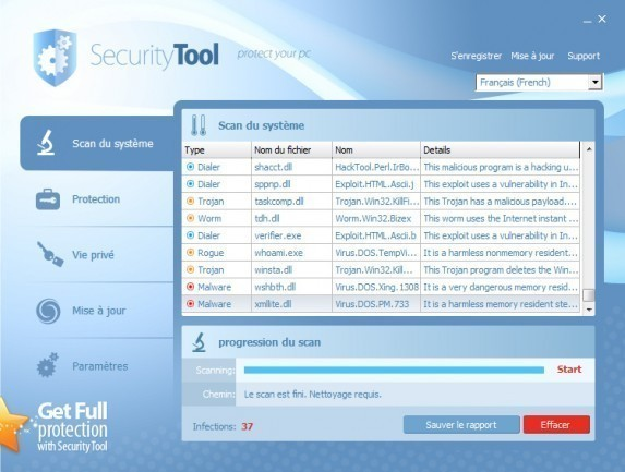 supprimer security tool