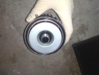 changer le filtre a huile sur fzx750 3