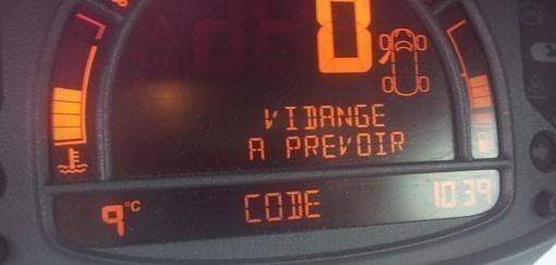 Entrer le code d'autoradio sur modus