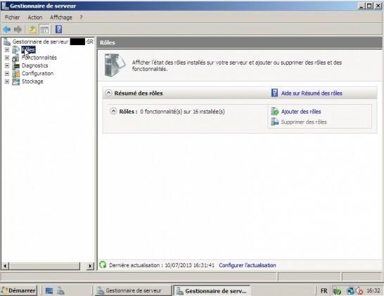 Configuration Active Directory + DNS sur Windows 2008 Server