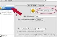 Ajouter ou supprimer un mot de passe sur mac osx