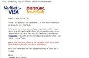 Arnaque par email mastercard et visa