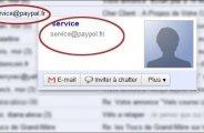 Arnaque paypal par email