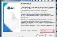 installation de l'antivirus avg