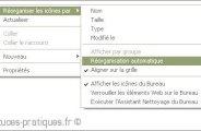 reorganisation automatique des icones sur xp 0
