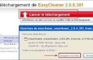 Téléchargement et installation de EasyCleaner