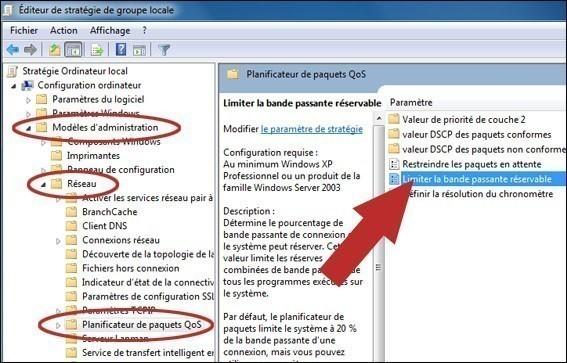 Augmenter votre debit internet sur windows 7 5