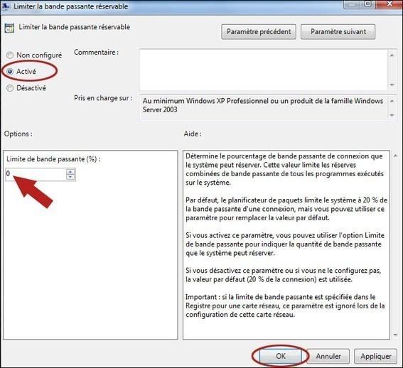 Augmenter votre debit internet sur windows 7 6