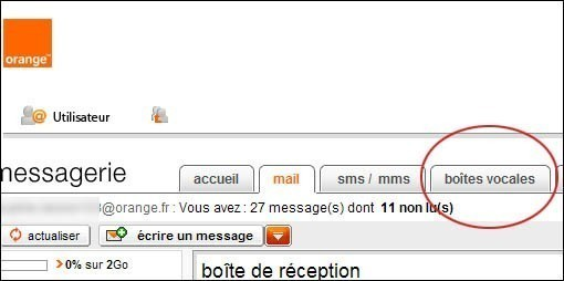 Consulter la messagerie vocale de la ligne internet orange 1