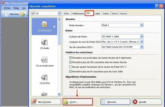 Graver un CD DVD a partir d une image ISO avec Nero 1