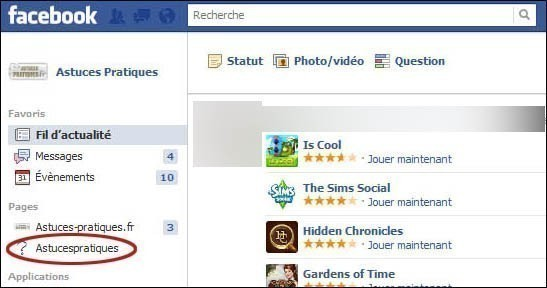 Supprimer une page fan sur facebook 1