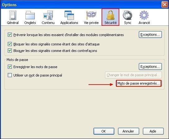 acceder a la liste des mots de passe enregistres dans firefox 1