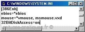 accelerer l acces aux disques sous windows 98 2