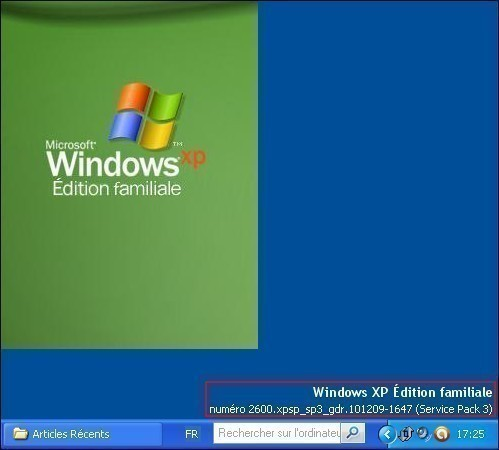 afficher la version windows xp sur le bureau 4