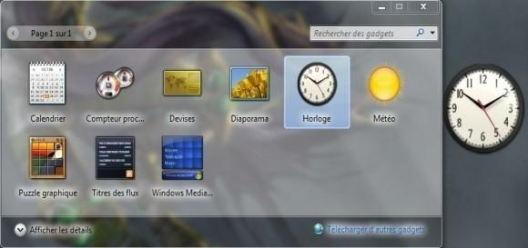 ajouter des gadgets sur windows 7 1