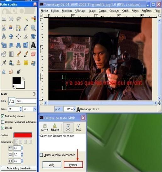 ajouter du texte sur une image avec gimp 4