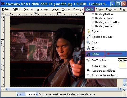 Ajouter du texte sur une image avec Gimp