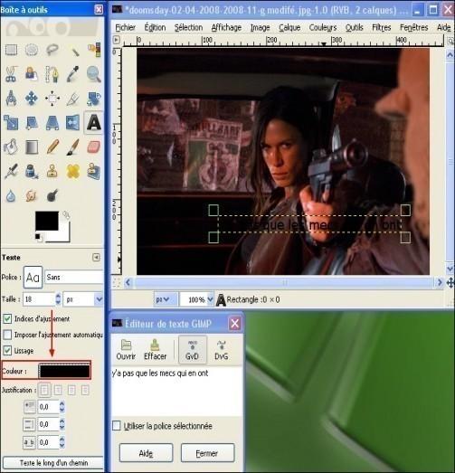 ajouter du texte sur une image avec gimp 2