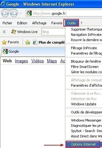 Ajouter un certificat sous Internet Explorer 8.0