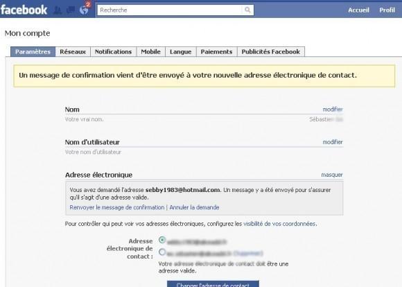 ajouter une adresse email sur facebook 4