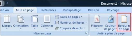 ajouter une bordure de page une bordure ou une trame de fond sur office 2007 1