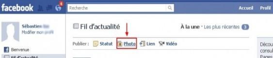 ajouter une photo sur facebook 0