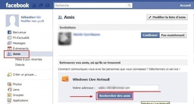 ajouter vos amis msn hotmail sur facebook 0